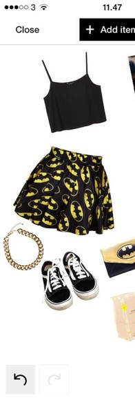batman skirt punk rock is good for you top