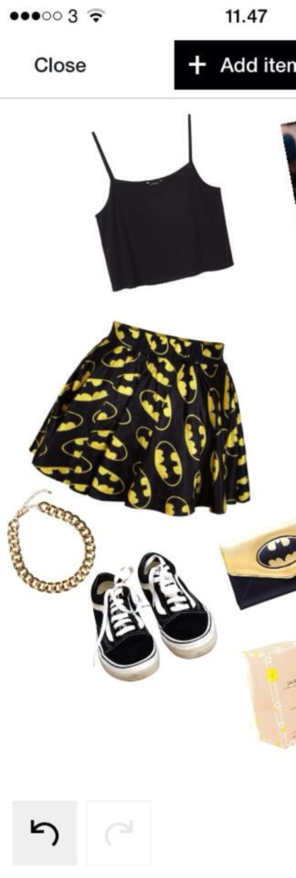 skirt batman top