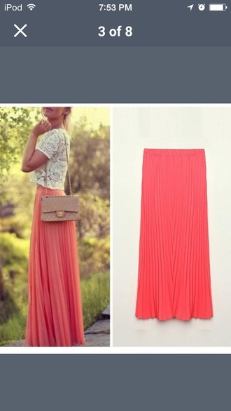 maxi skirt top red lime sunday
