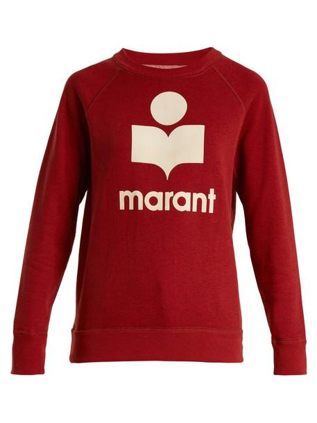 Isabel Marant etoile sweatshirt cotton red sweater