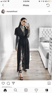 dress,black,monami frost,monami,black dress