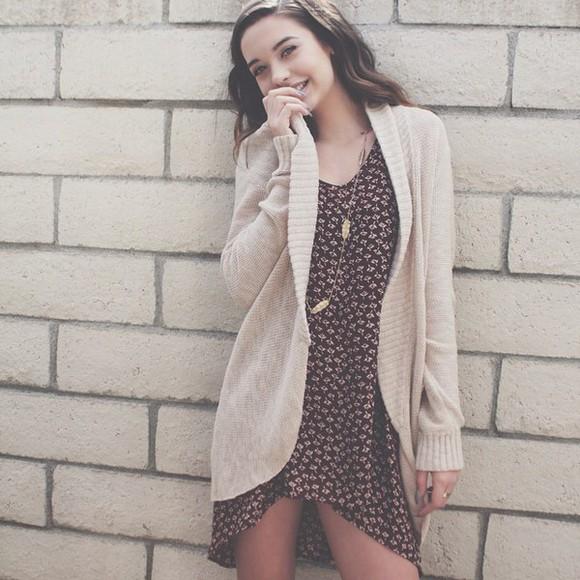 makeupbymandy24 sweater cute dress tumblr outfit cardigan