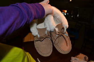 shoes native american fur slippers moccasins indian boots