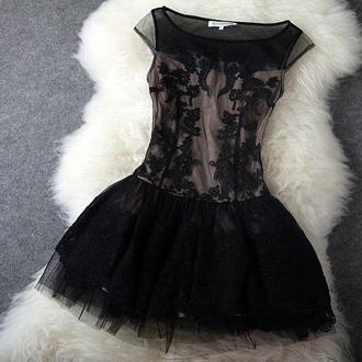 dress black dress lace dress homecoming dress