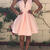 Pink Sleeveless Zipper Pleated Flared Dress on Storenvy