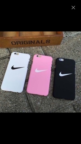 phone cover nike pink white black cover iphone