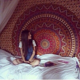 home accessory hippie mandala tapestry wall hanging elephant bedcover beach blanket beach throw