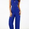 Pleated peephole dressy jumpsuit