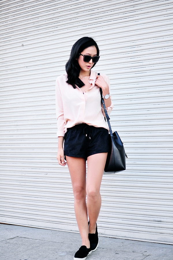 her imajination blogger blouse bag jewels sunglasses