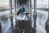 skirt,flip,brand,label,cyer,black,rain,alternative,metallic,jumper,blackmatch,two-piece