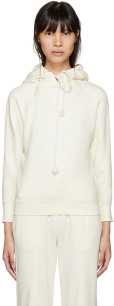 hoodie white off-white sweater