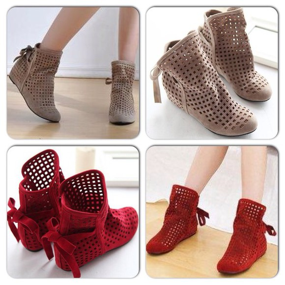 shoes wedges summer boots
