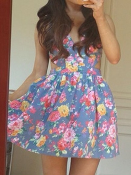 dress ariana grande, floral dress skater dress floral floral print dress colorful floral print flowers
