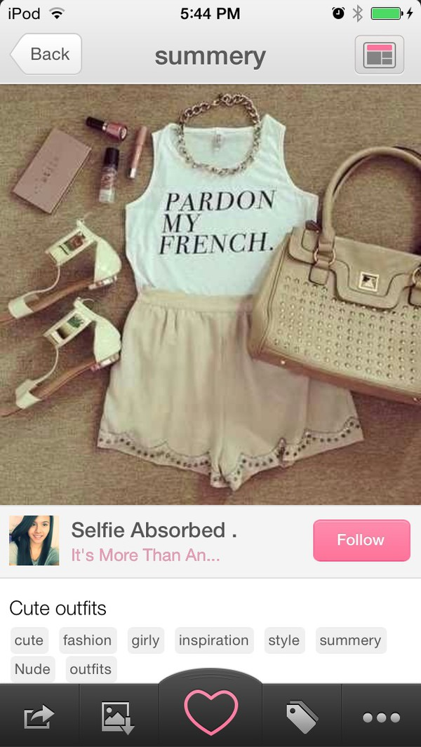 t-shirt style french skirt shoes necklace black and white