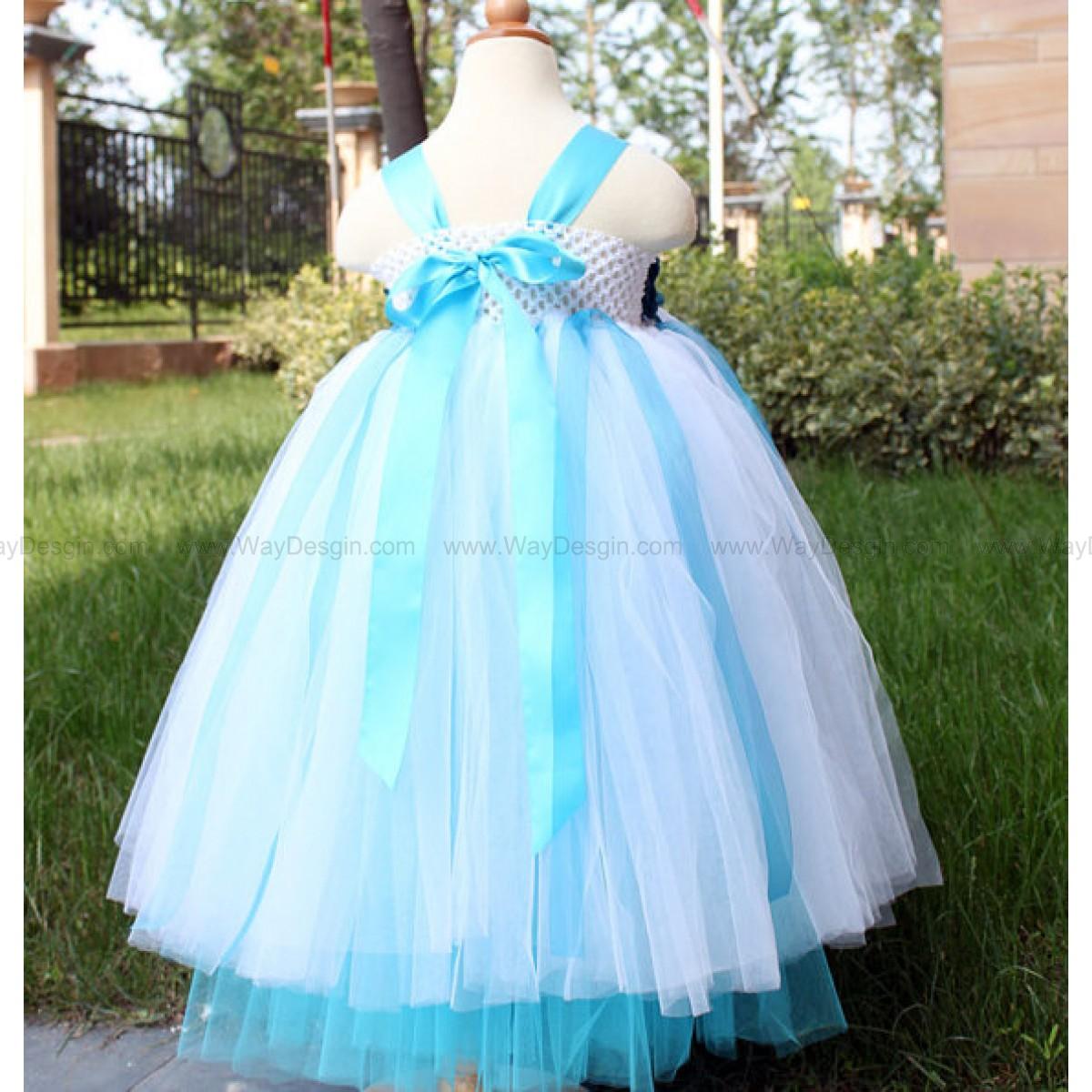Flower girl dress with headband turquoise white tutu dress baby flower girl dress with headband turquoise white tutu dress baby dress toddler birthday dress wedding dress mightylinksfo