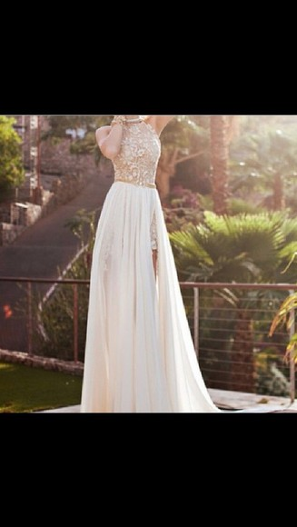dress floral dress gold gold sequins white prom dress long dress long prom dress sleeveless dress flower print