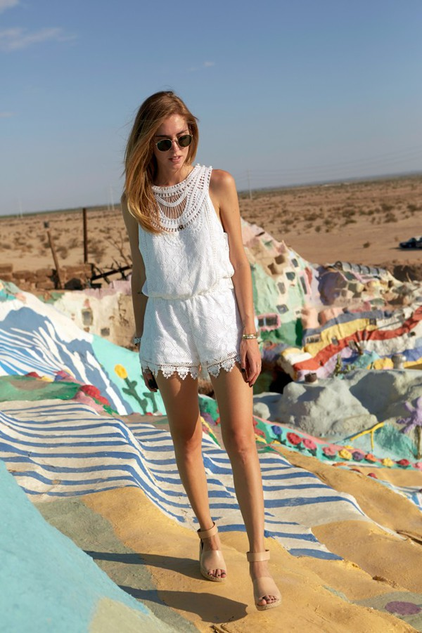 the blonde salad blogger shoes romper sunglasses