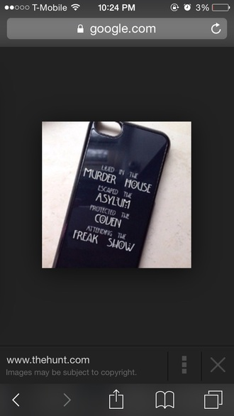 phone cover american horror story black ahs coven