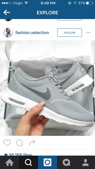 shoes grey nike running shoes cute