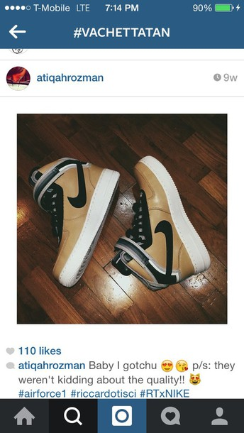 shoes nike sneakers vachetta tan