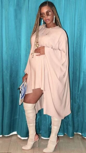 dress nude nude dress beyonce boots instagram maternity sunglasses