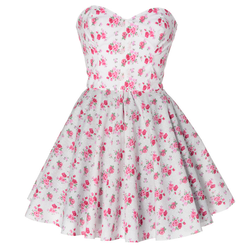 Vintage Inspired Floral Prom dress   Style Icon`s Closet