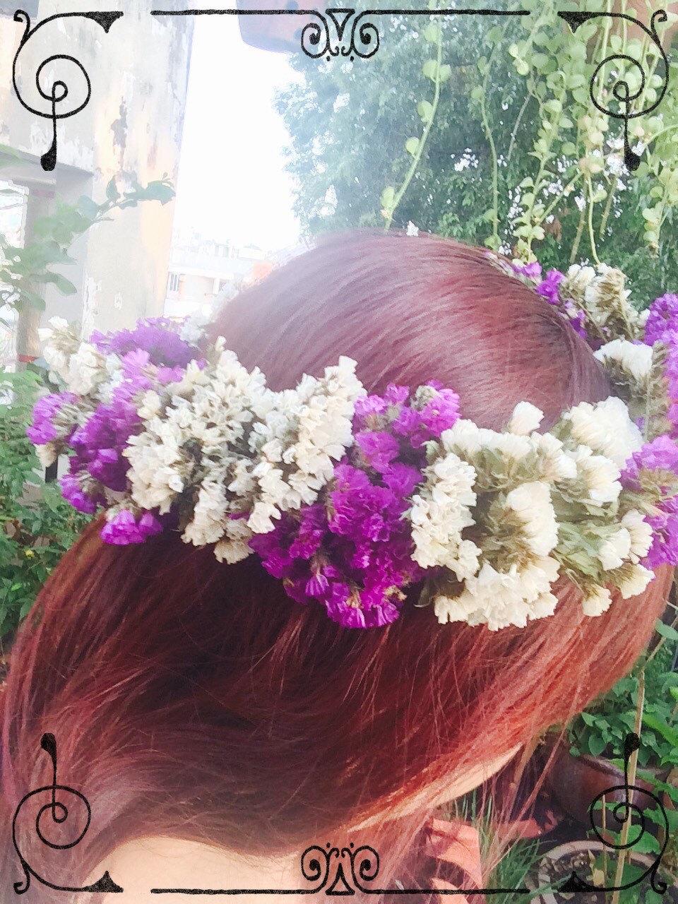 Sale Dried Flower Crown Floral Crown Flower Hair Wreath
