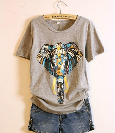 Elephant print tee · ruched boutique · online store powered by storenvy