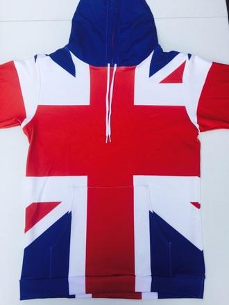 sweater union jack blue white red flag britain british hoodie sweatshirt soft union jack print t-shirt 3d sweatshirts soft grunge