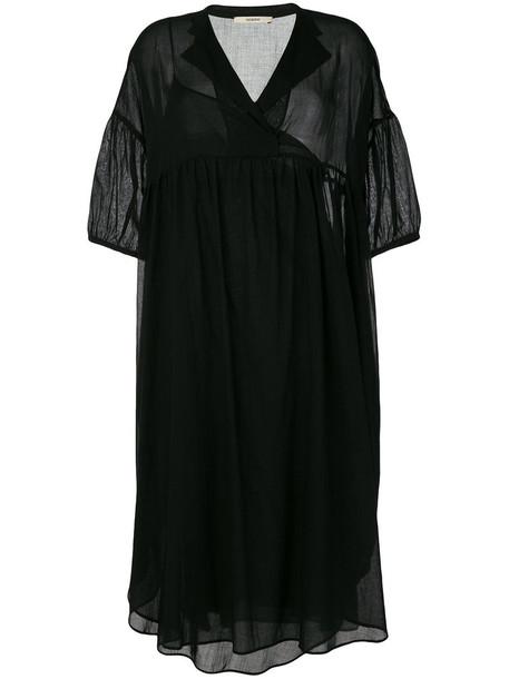 Odeeh dress shirt dress oversized shirt dress oversized women cotton black