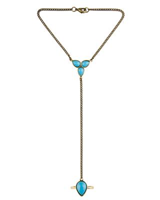 Artemis Bracelet Turquoise Brass | Maison De Morgana