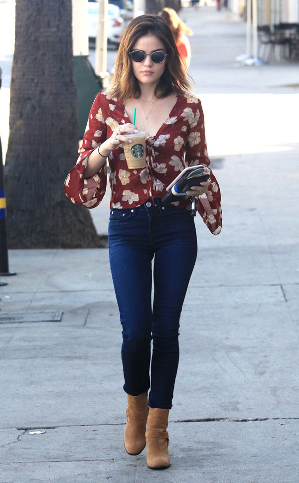 Blouse: ankle boots, jeans, celebrity, streetstyle, fall ...