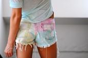 shorts,pastel,white