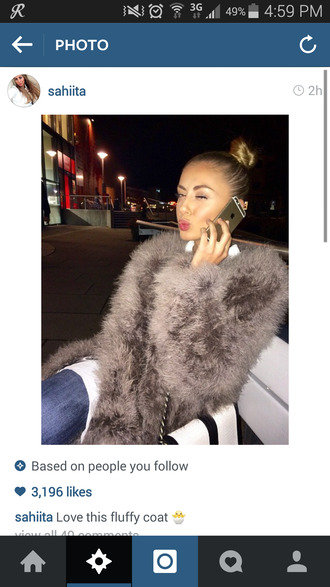 fur coat fur fuzzy coat fluffy