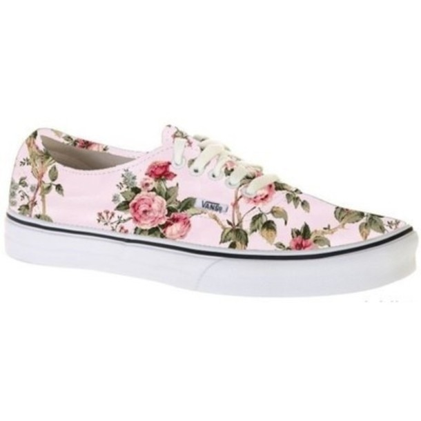 shoes, vans, beautiful, girl, girl, flowers, flowers ...