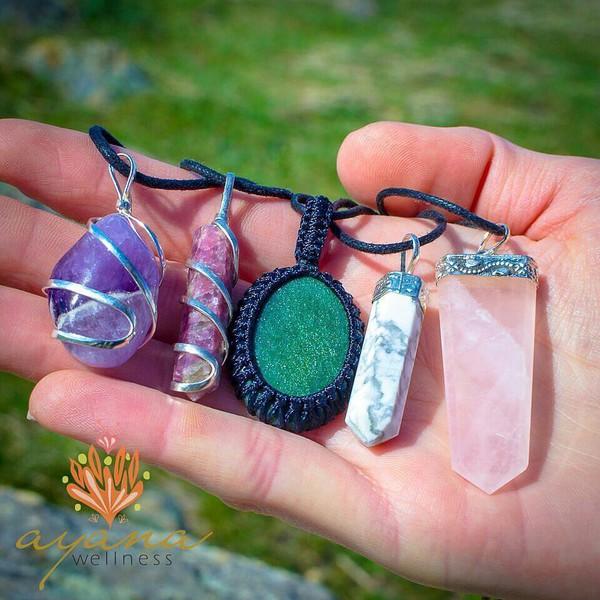 jewels rose quartz healing crystal necklace lepidolite healing necklace crystal therapy benefits crystal healing therapy healing crystals for depression anxiety healing crystals crystal and gemstone healing jewelry