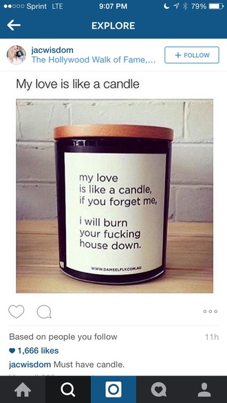 home accessory funny home decor fire candle