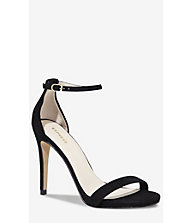 SUEDE SLEEK RUNWAY SANDAL from EXPRESS