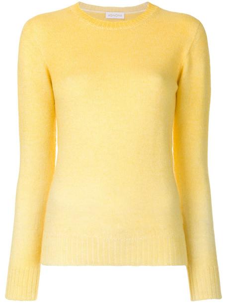 top long women knit yellow orange