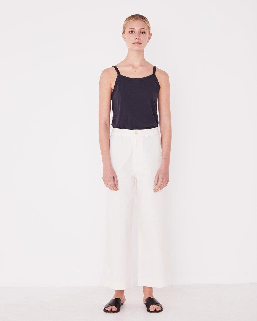 Vela Wide Leg Pant Vintage White