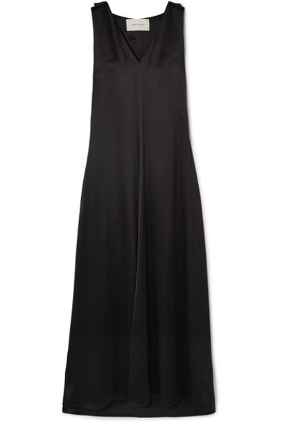 Cédric Charlier dress maxi dress maxi black satin