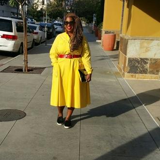 alreadypretty blogger belt bag shoes yellow dress plus size dress plus size clutch