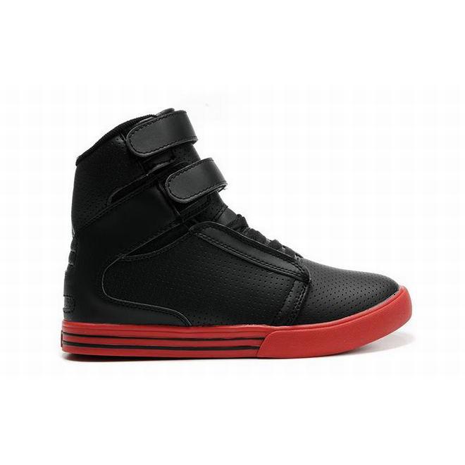 supra tk society high tops black red womens sneakers
