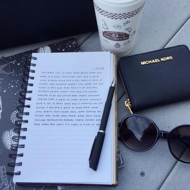 home accessory michael kors notebook pencils black sunglasses michael kors wallet