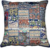 home accessory,blue sofa pillows,embroidered cushions,indian patchwork cushions,decorative throw pillows for couch,organic dining chair pillows,dining chair cushions,patio cushions,outdoor furniture cushions,kitchen chair cushions,bedroom shams,euro shams,bedroom cushions,handmade cushions,blue sofa cushions,couch cushions,floor cushions,holiday gift,wedding decoration cushions