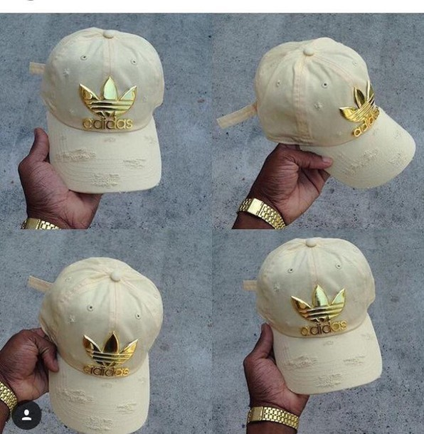hat cap adidas nude gold plated gold beige adidas champagne baseball cap  straps 96342b94f59e