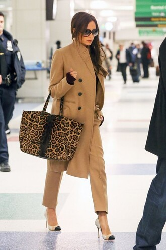 pants bag leopard print animal print victoria beckham pumps shoes animal print bag