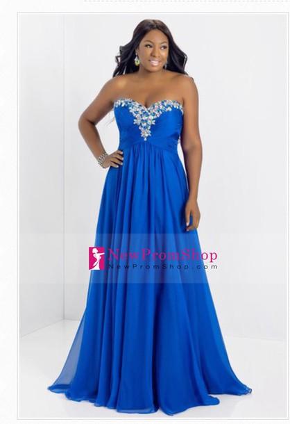 dress blue prom dress long jewelss