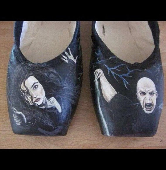 harry potter shoes pointe shoes ballet hp