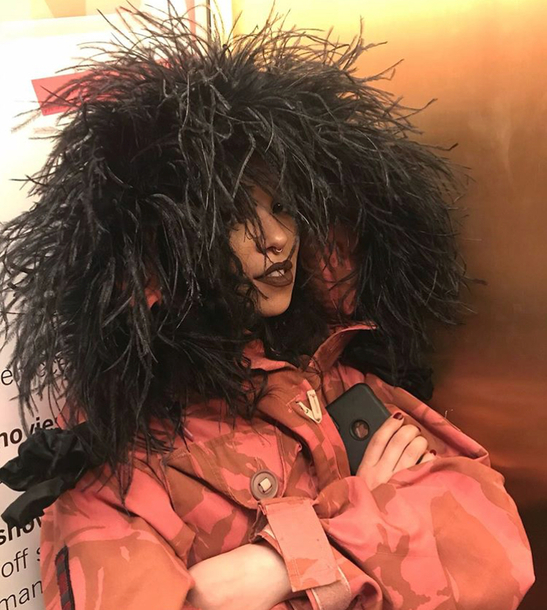 coat feather hood fka twigs camouflage red camouflage red coat